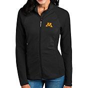Antigua Women's Minnesota Golden Gophers Black Sonar Full-Zip Performance Jacket