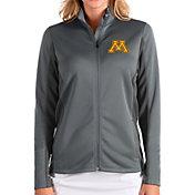 Antigua Women's Minnesota Golden Gophers Grey Passage Full-Zip Jacket