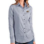 Antigua Women's Montana State Bobcats Blue Structure Button Down Long Sleeve Shirt