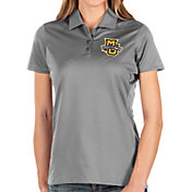 Antigua Women's Marquette Golden Eagles Grey Balance Polo