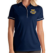 Antigua Women's Marquette Golden Eagles Blue Salute Performance Polo