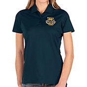 Antigua Women's Marquette Golden Eagles Blue Balance Polo
