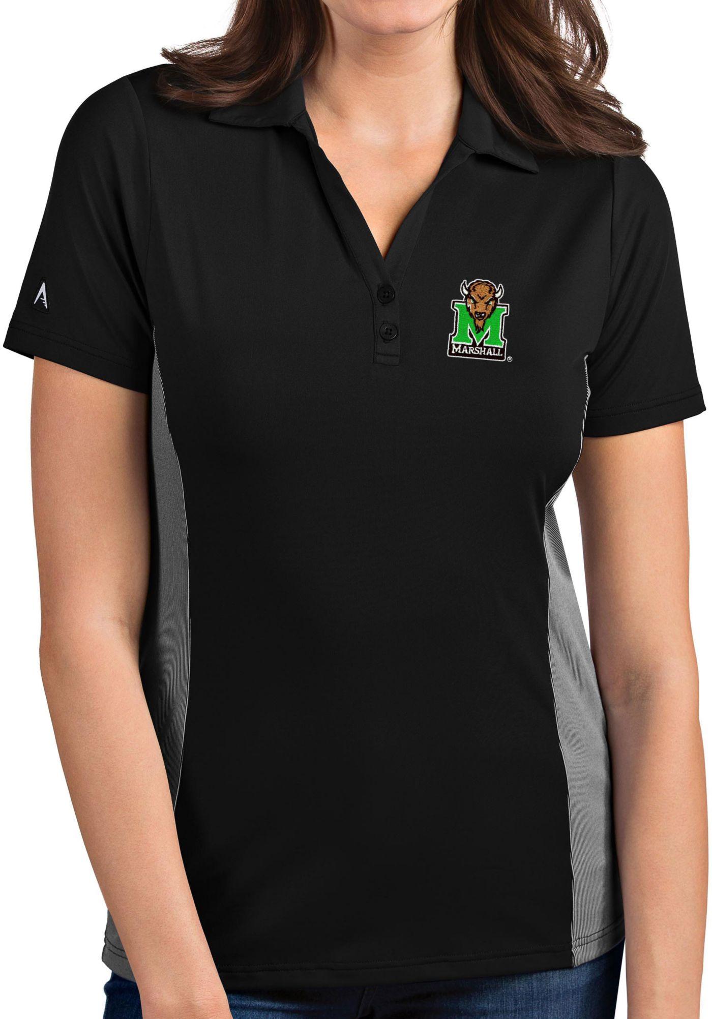 Antigua Women's Marshall Thundering Herd Venture Black Polo