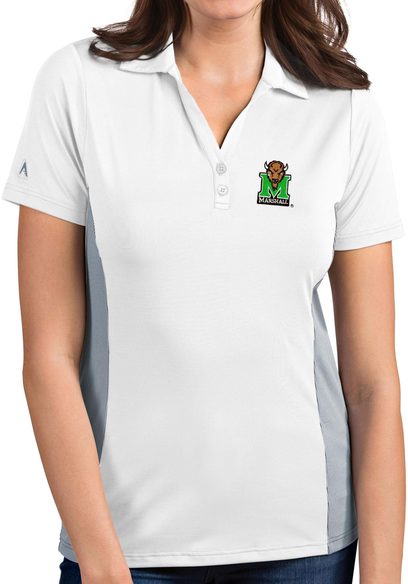 Antigua Women's Marshall Thundering Herd Venture White Polo