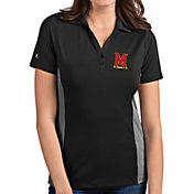 Antigua Women's Maryland Terrapins Grey Venture Polo