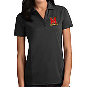 Antigua Women's Maryland Terrapins Grey Tribute Performance Polo