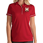 Antigua Women's Maryland Terrapins Red Salute Performance Polo