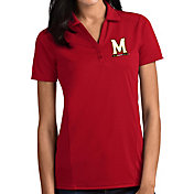 Antigua Women's Maryland Terrapins Red Tribute Performance Polo