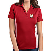 Antigua Women's Maryland Terrapins Red Venture Polo