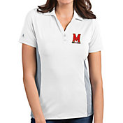 Antigua Women's Maryland Terrapins Venture White Polo