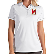 Antigua Women's Maryland Terrapins Salute Performance White Polo