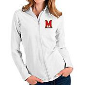 Antigua Women's Maryland Terrapins Glacier Full-Zip White Jacket