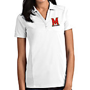 Antigua Women's Maryland Terrapins Tribute Performance White Polo