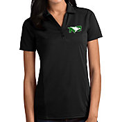 Antigua Women's North Dakota Fighting Hawks Tribute Performance Black Polo