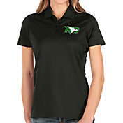 Antigua Women's North Dakota Fighting Hawks Balance Black Polo