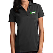 Antigua Women's North Dakota Fighting Hawks Grey Tribute Performance Polo