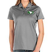 Antigua Women's North Dakota Fighting Hawks Grey Balance Polo