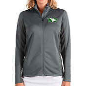 Antigua Women's North Dakota Fighting Hawks Grey Passage Full-Zip Jacket