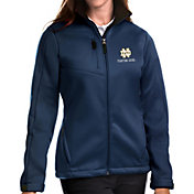 Antigua Women's Notre Dame Fighting Irish Navy Traverse Full-Zip Jacket