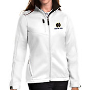 Antigua Women's Notre Dame Fighting Irish Traverse Full-Zip White Jacket