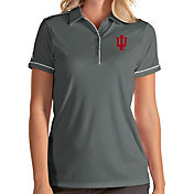 Antigua Women's Indiana Hoosiers Grey Salute Performance Polo