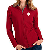 Antigua Women's Indiana Hoosiers Crimson Glacier Full-Zip Jacket