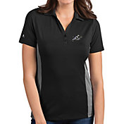 Antigua Women's Navy Midshipmen Grey Venture Polo