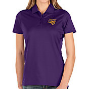 Antigua Women's Northern Iowa Panthers  Purple Balance Polo