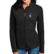Antigua Women's Northwestern Wildcats Black Sonar Full-Zip Performance Jacket
