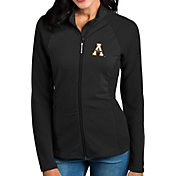 Antigua Women's Appalachian State Mountaineers Black Sonar Full-Zip Performance Jacket