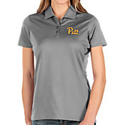 Antigua Women's Pitt Panthers Grey Balance Polo