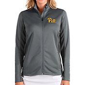 Antigua Women's Pitt Panthers Grey Passage Full-Zip Jacket