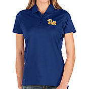 Antigua Women's Pitt Panthers Blue Balance Polo