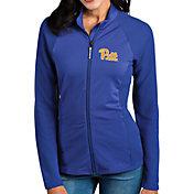 Antigua Women's Pitt Panthers Blue Sonar Full-Zip Performance Jacket