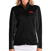 Antigua Women's Arkansas Razorbacks Passage Full-Zip Black Jacket