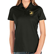 Antigua Women's Army West Point Black Knights Balance Black Polo
