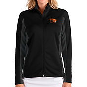 Antigua Women's Oregon State Beavers Passage Full-Zip Black Jacket