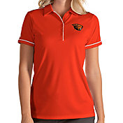 Antigua Women's Oregon State Beavers Orange Salute Performance Polo
