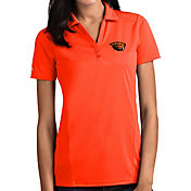 Antigua Women's Oregon State Beavers Orange Tribute Performance Polo