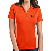 Antigua Women's Oregon State Beavers Orange Venture Polo