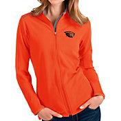 Antigua Women's Oregon State Beavers Orange Glacier Full-Zip Jacket