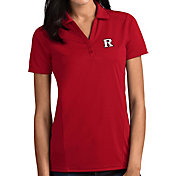 Antigua Women's Rutgers Scarlet Knights Scarlet Tribute Performance Polo