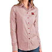 Antigua Women's Rutgers Scarlet Knights Scarlet Structure Button Down Long Sleeve Shirt