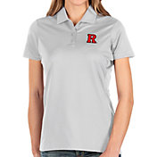 Antigua Women's Rutgers Scarlet Knights Balance White Polo