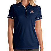 Antigua Women's Arizona Wildcats Navy Salute Performance Polo