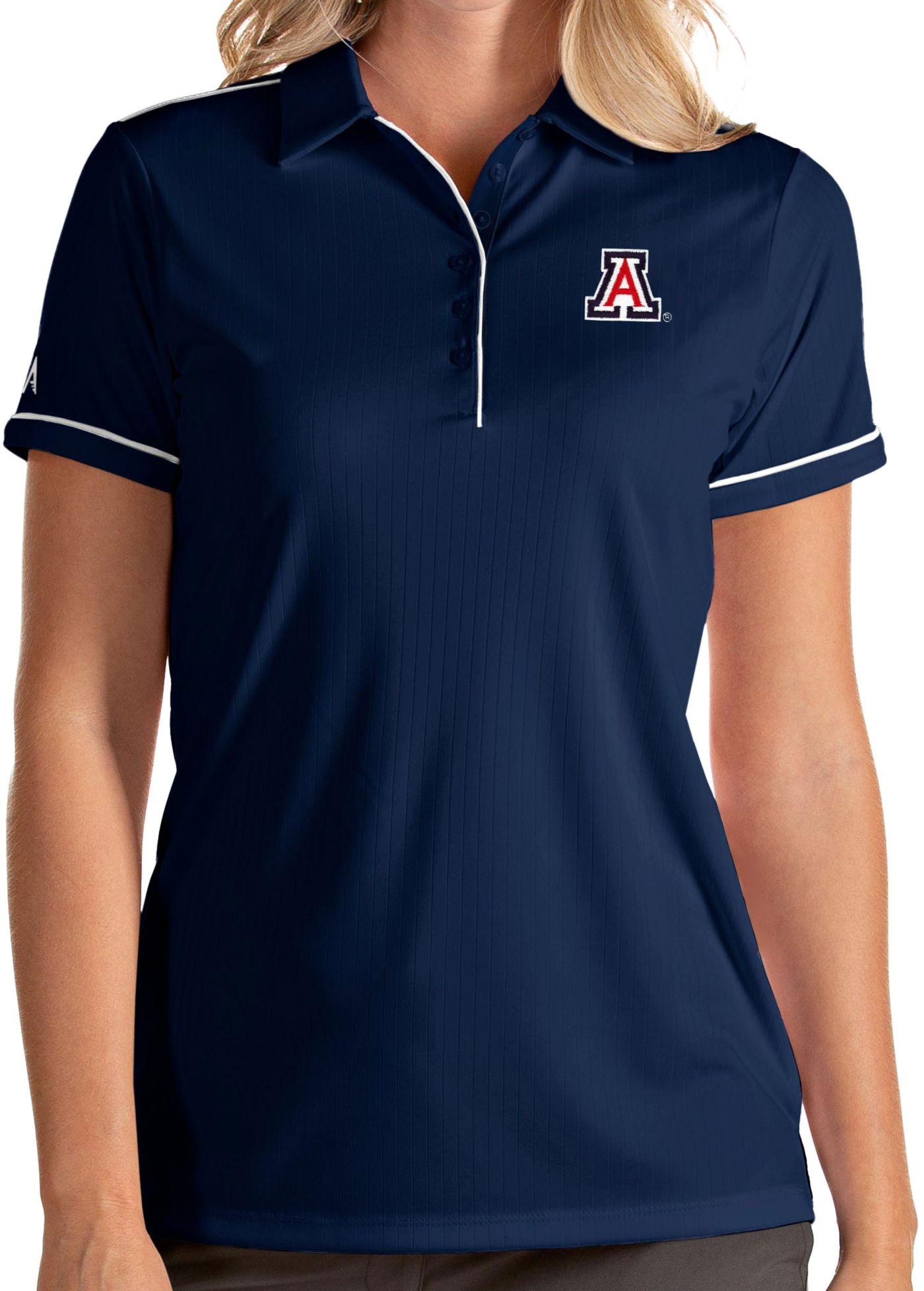 Antigua Women's Arizona Wildcats Navy Salute Performance Polo