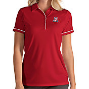 Antigua Women's Arizona Wildcats Cardinal Salute Performance Polo
