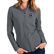 Antigua Women's South Carolina Gamecocks Grey Glacier Full-Zip Jacket