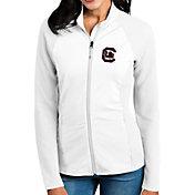 Antigua Women's South Carolina Gamecocks White Sonar Full-Zip Performance Jacket