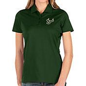 Antigua Women's South Florida Bulls Green Balance Polo